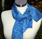 My True Blue – Silk Scarf, painted  by Margie